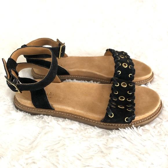 e80d5059c5d0 Clarks Shoes - Clarks Artisan Suede Ankle Wrap Sandals -